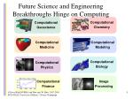 future science and engineering breakthroughs hinge on computing