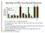 speedup of gpu accelerated functions
