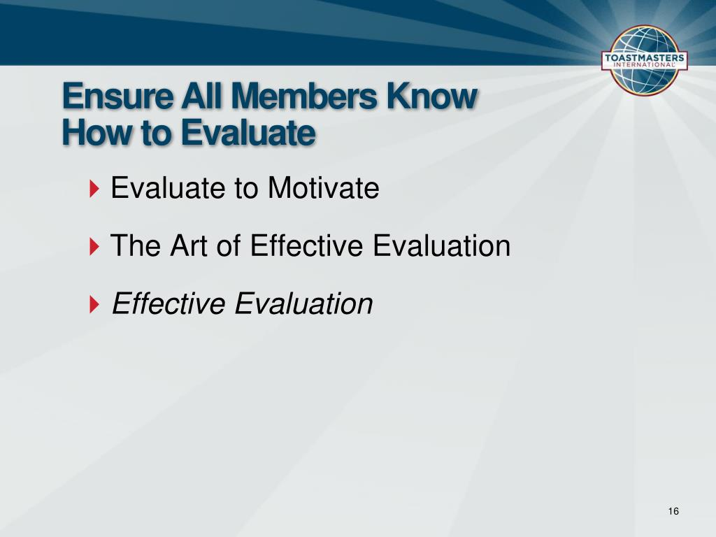 Ensure All Members Know