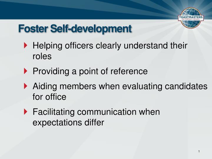 Foster self development