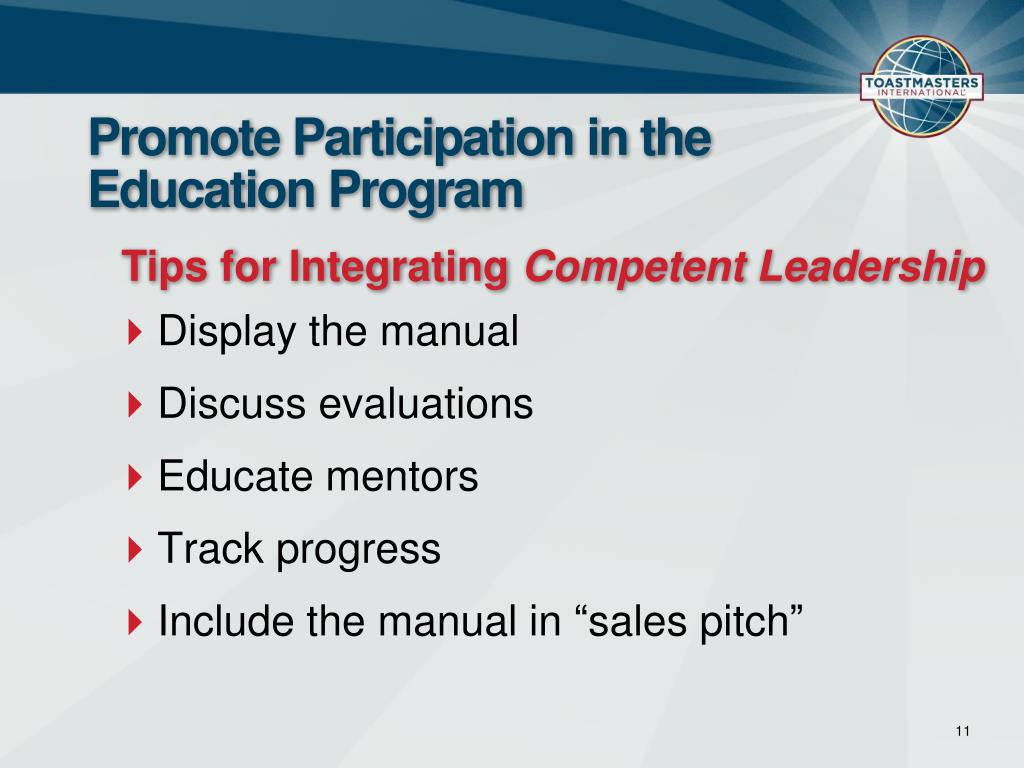 Promote Participation in the Education Program