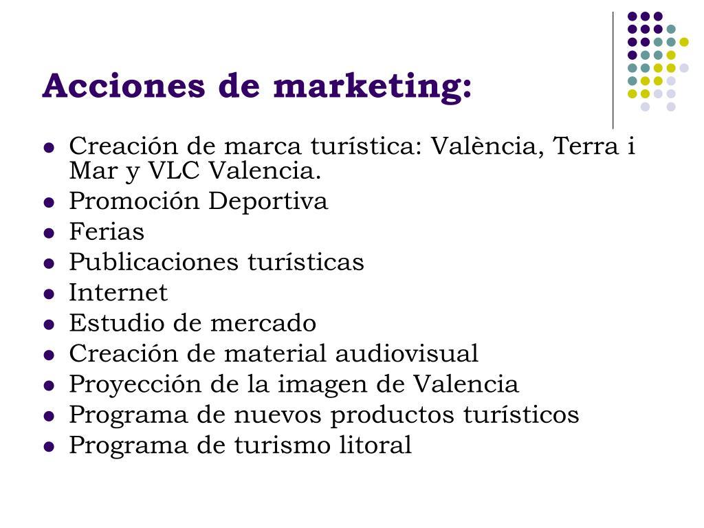 Acciones de marketing: