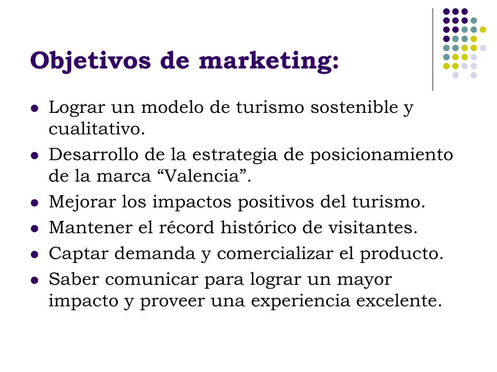 Objetivos de marketing: