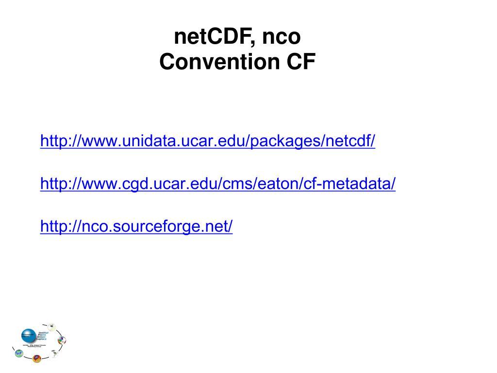 netCDF, nco