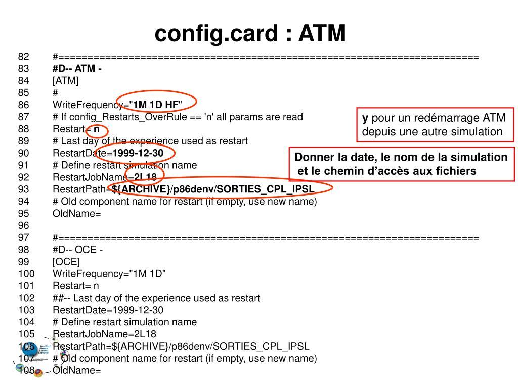 config.card : ATM