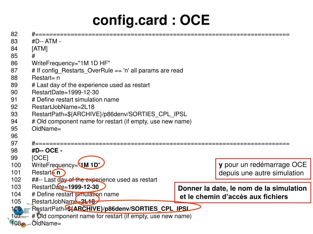 config.card : OCE