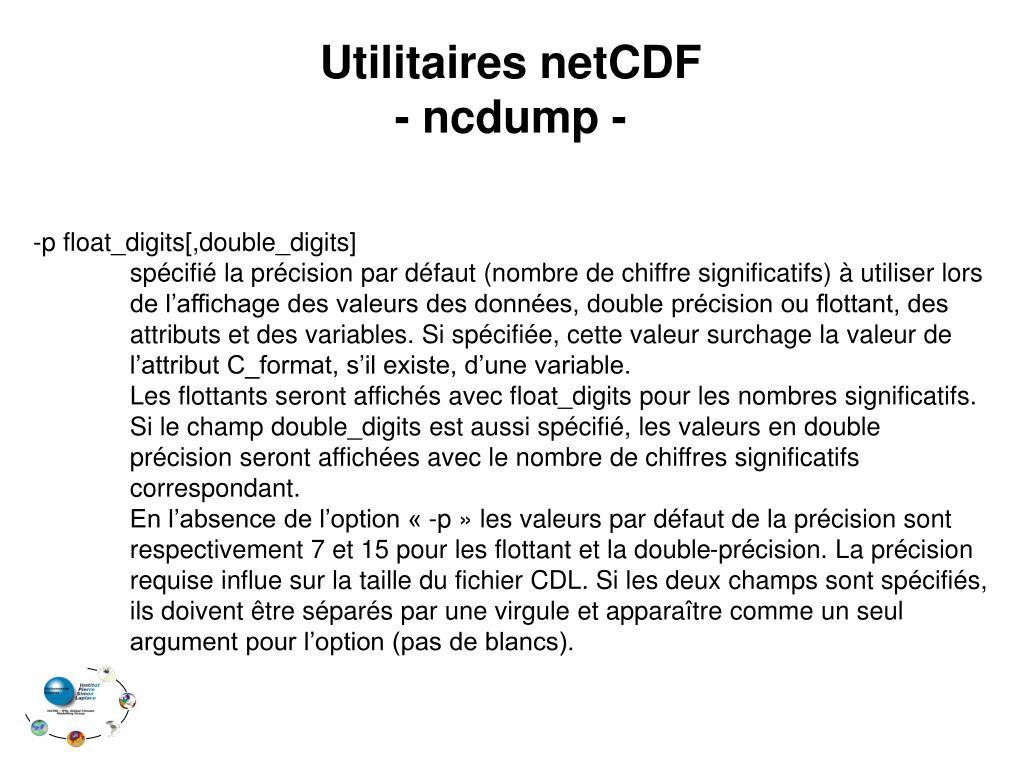 Utilitaires netCDF