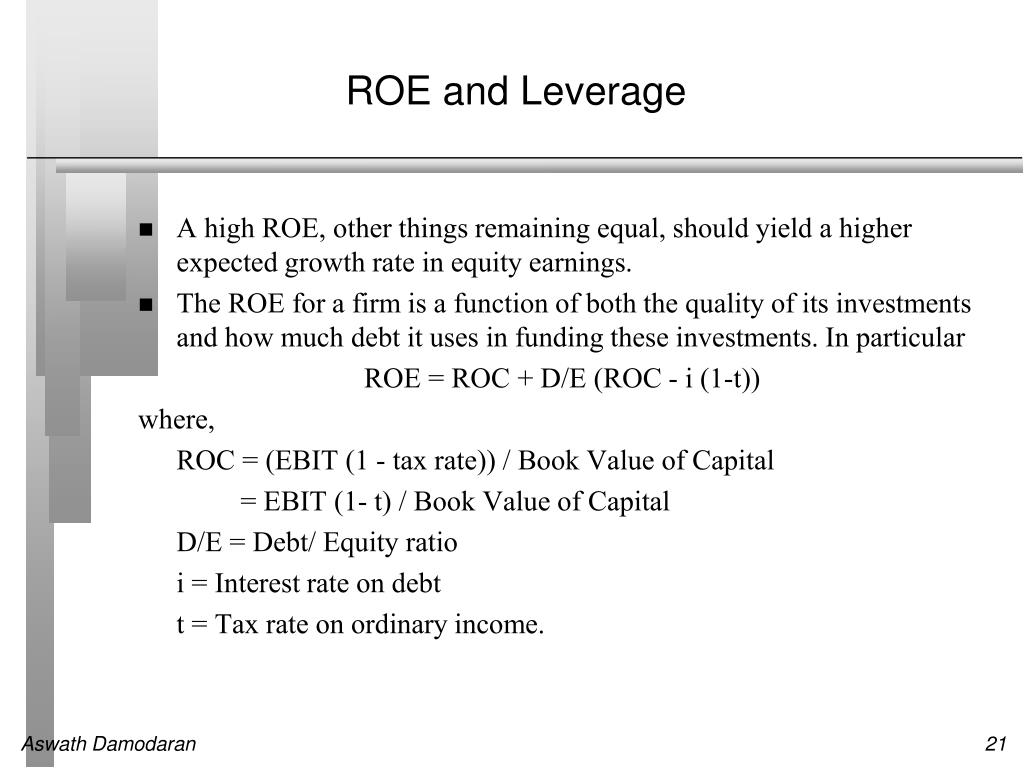 ROE and Leverage