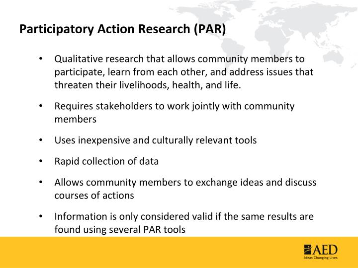 Participatory action research par