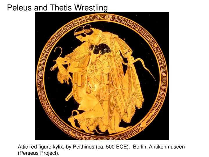 Peleus and Thetis Wrestling