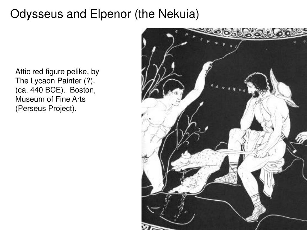 Odysseus and Elpenor (the Nekuia)