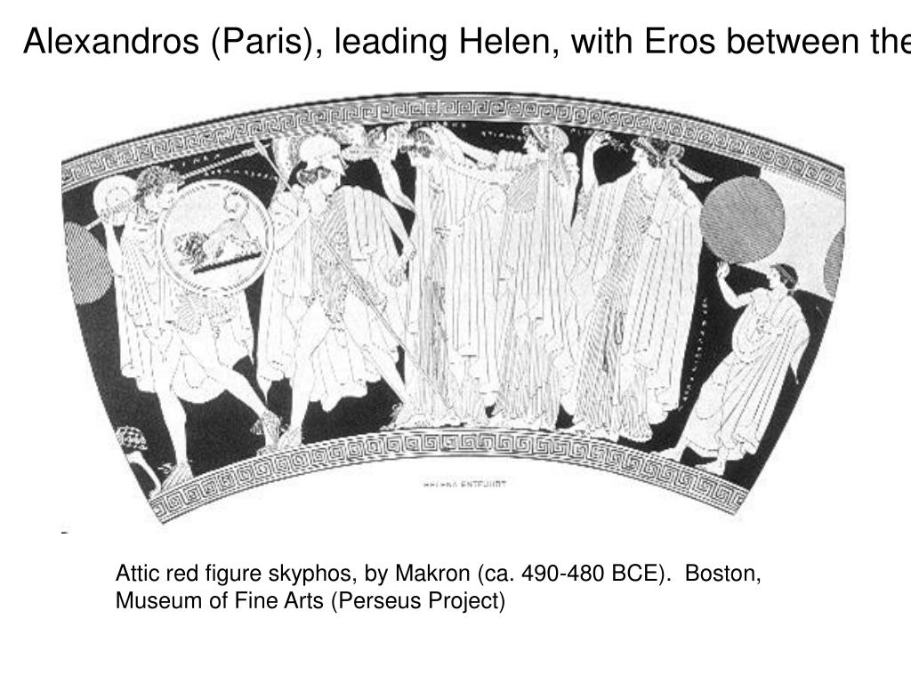 Alexandros (Paris), leading Helen, with Eros between them