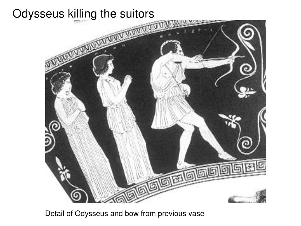 Odysseus killing the suitors