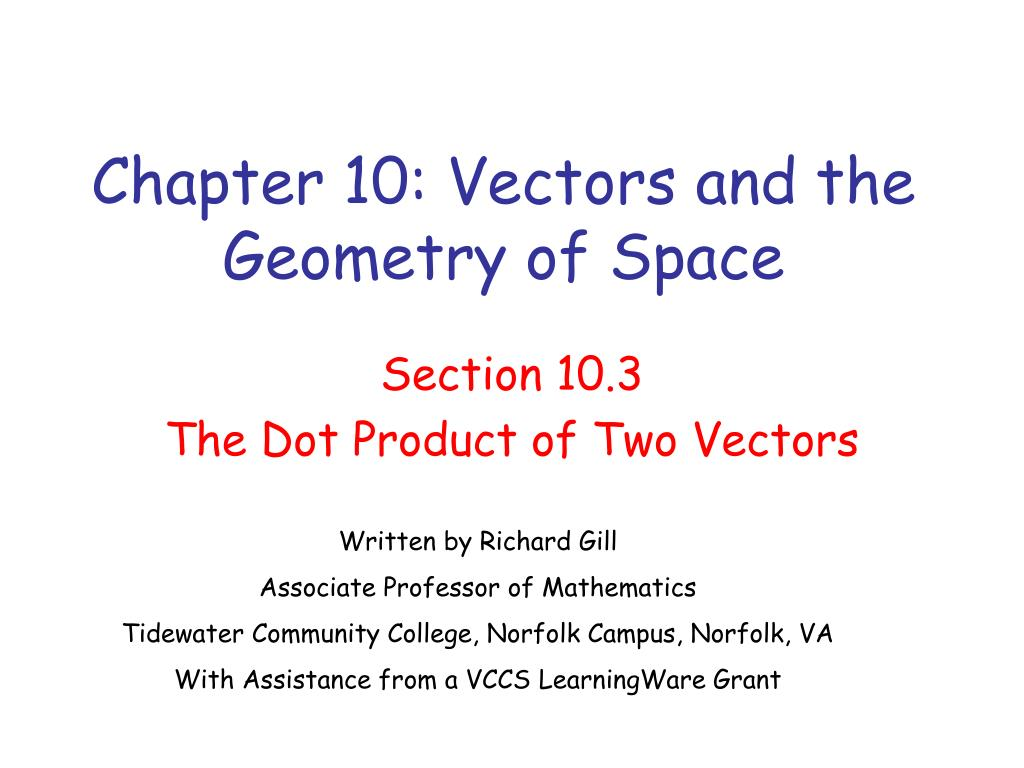chapter 10 vectors and the geometry of space