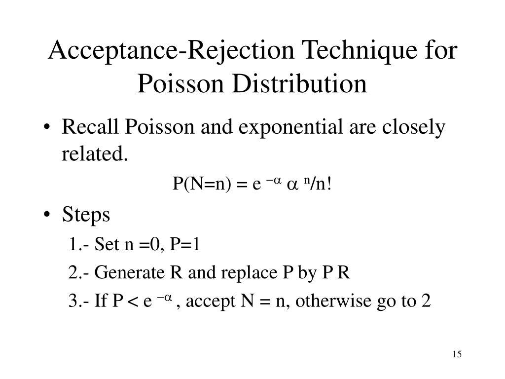 Acceptance-Rejection Technique for Poisson Distribution