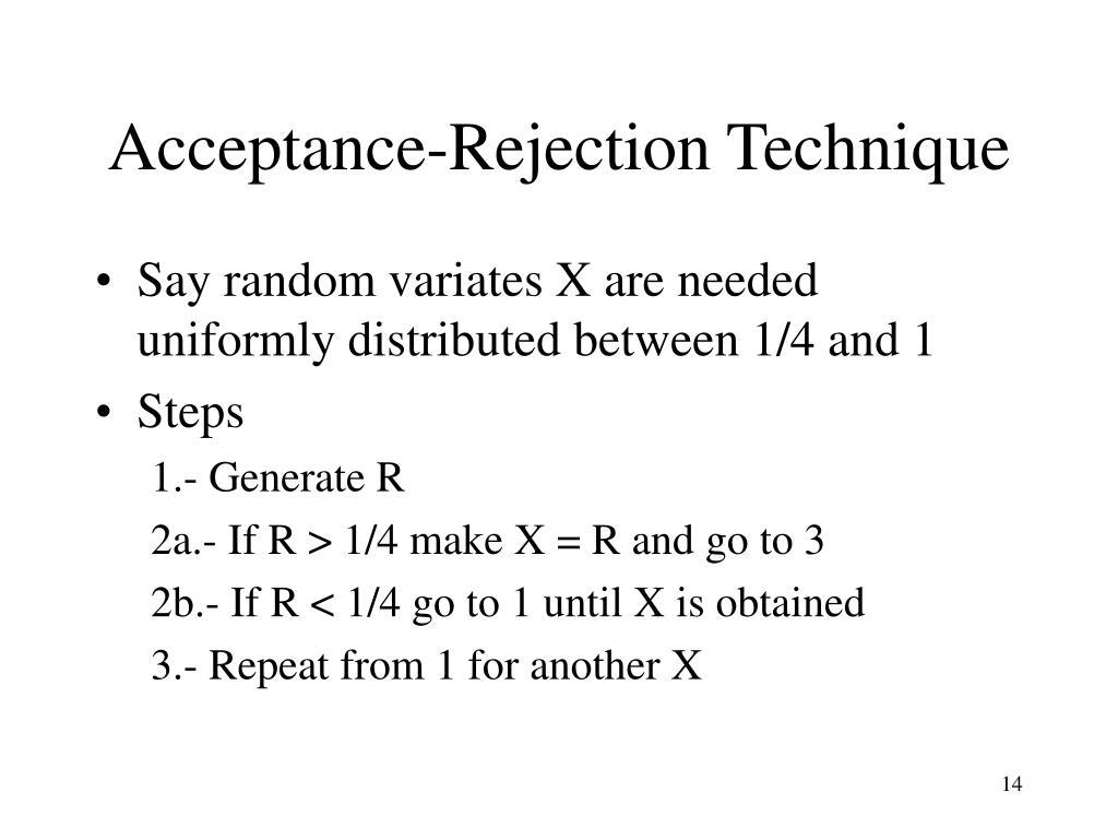 Acceptance-Rejection Technique