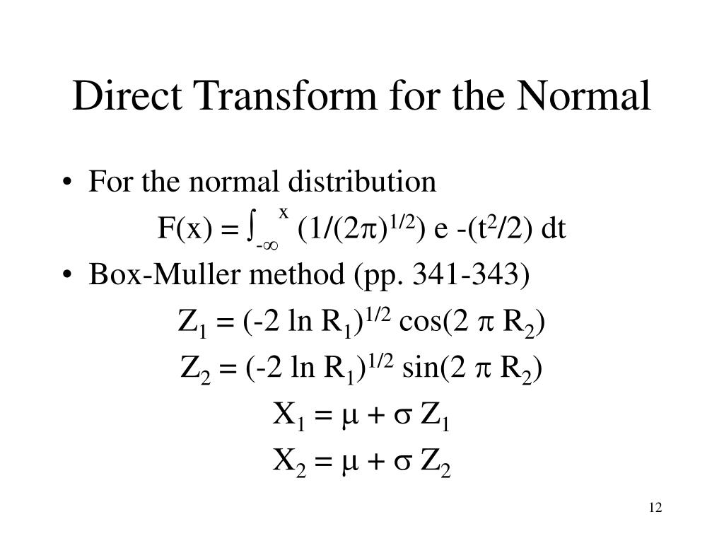 Direct Transform for the Normal