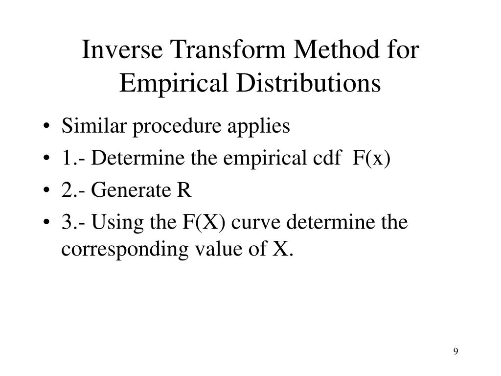 Inverse Transform Method for Empirical Distributions