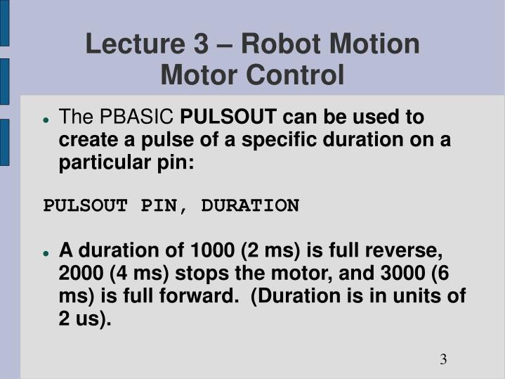 Lecture 3 robot motion motor control1