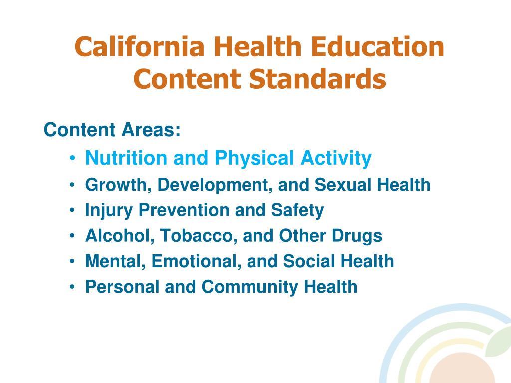 California Health Education Content Standards