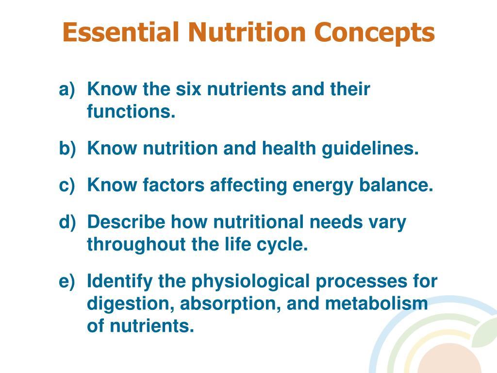 Essential Nutrition Concepts