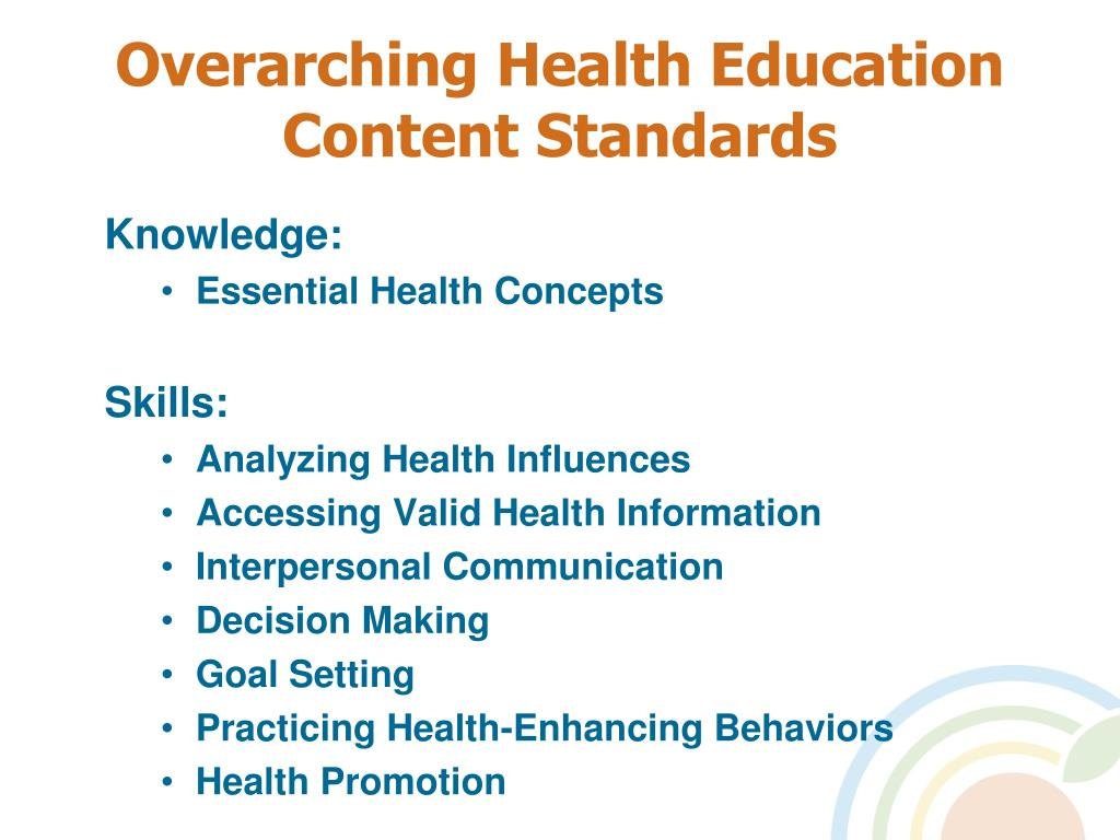 Overarching Health Education Content Standards