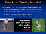 drug litter visually recorded