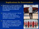 implications for interventions