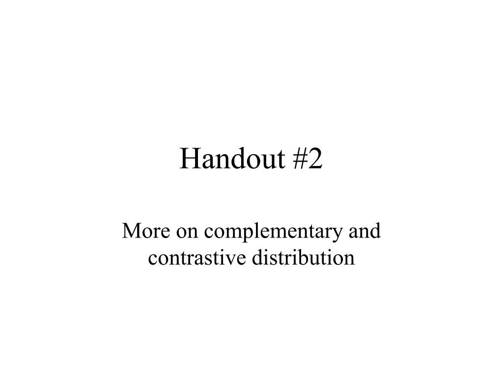 handout 2 l.