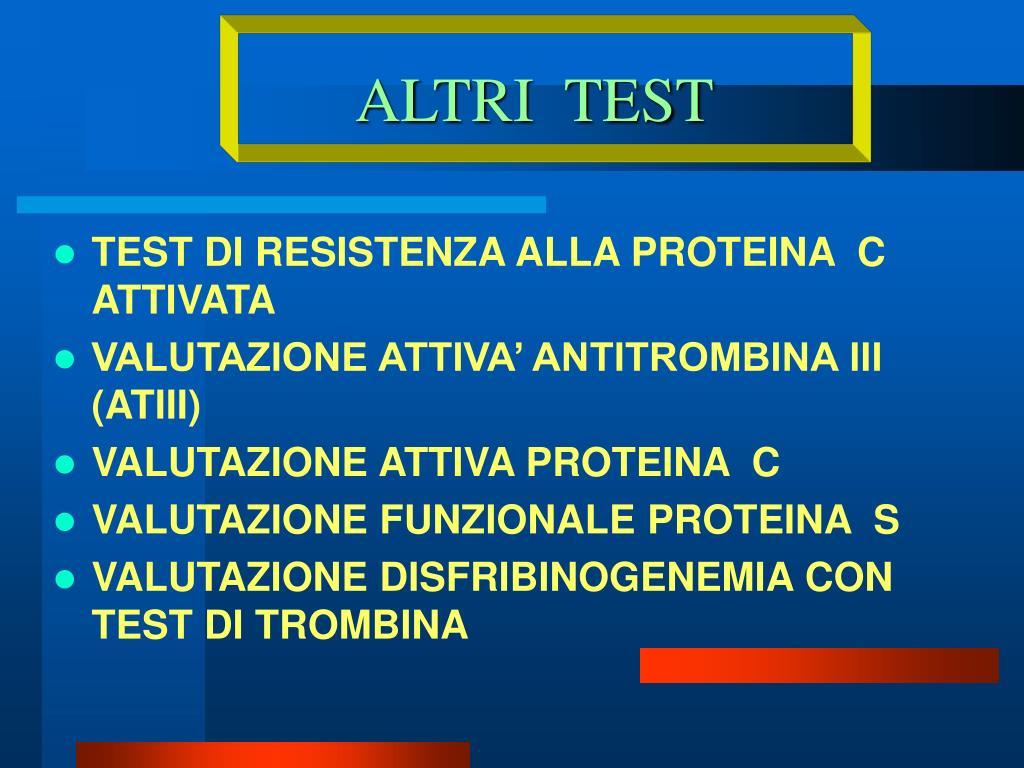 ALTRI  TEST