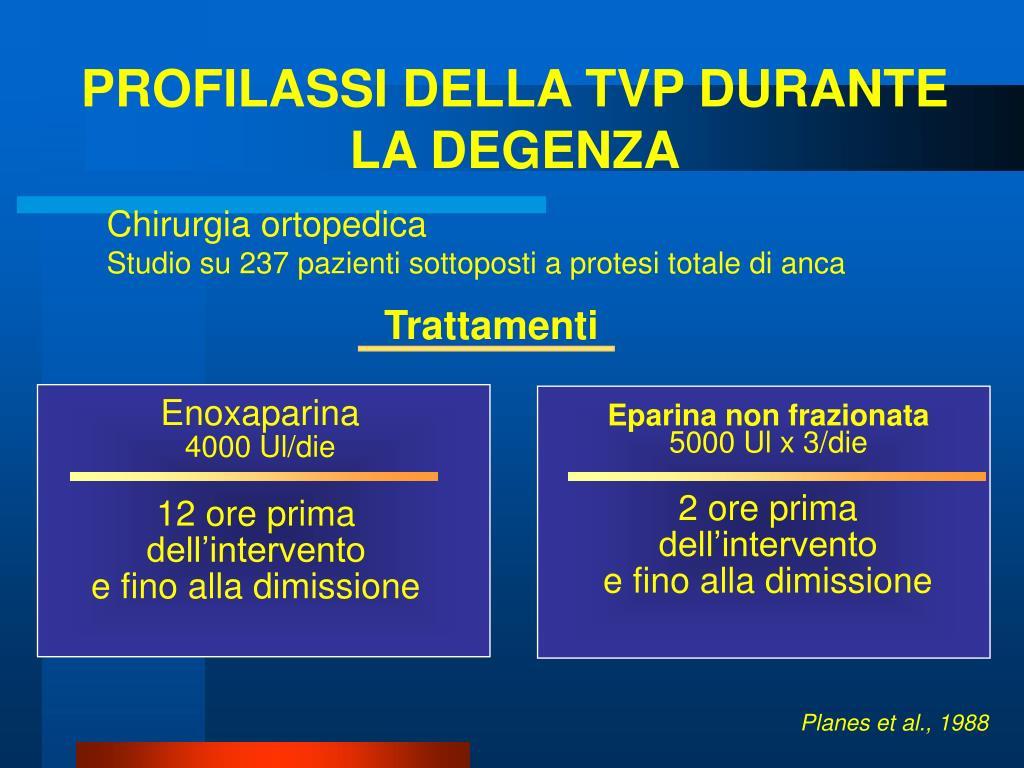 PROFILASSI DELLA TVP DURANTE