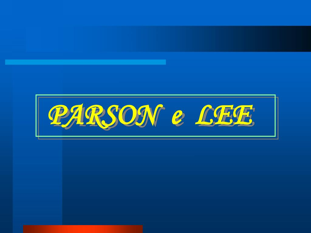 PARSON  e  LEE