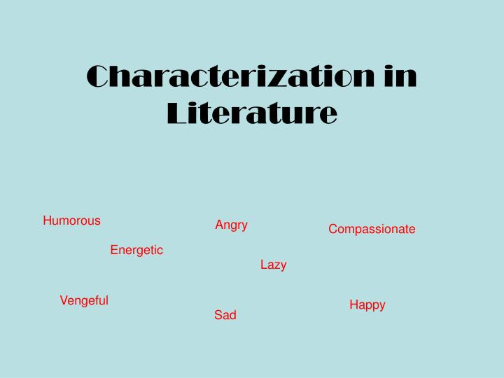 characterization in literature n.