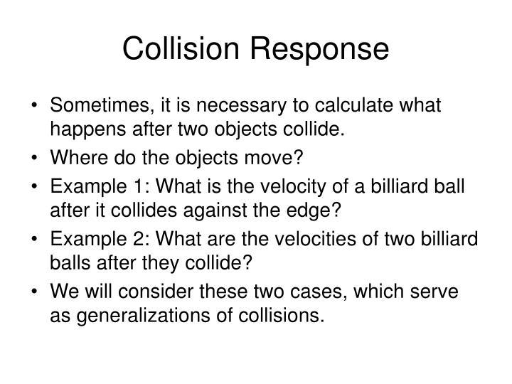 Collision response2