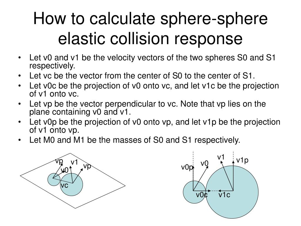 How to calculate sphere-sphere elastic collision response