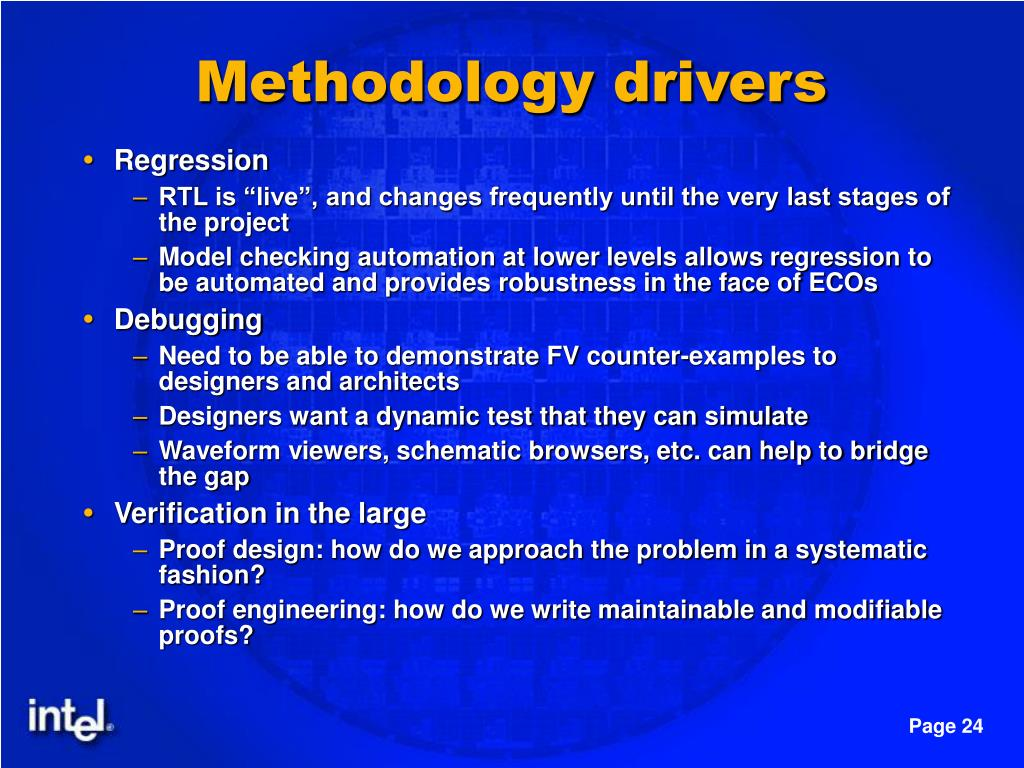 Methodology drivers