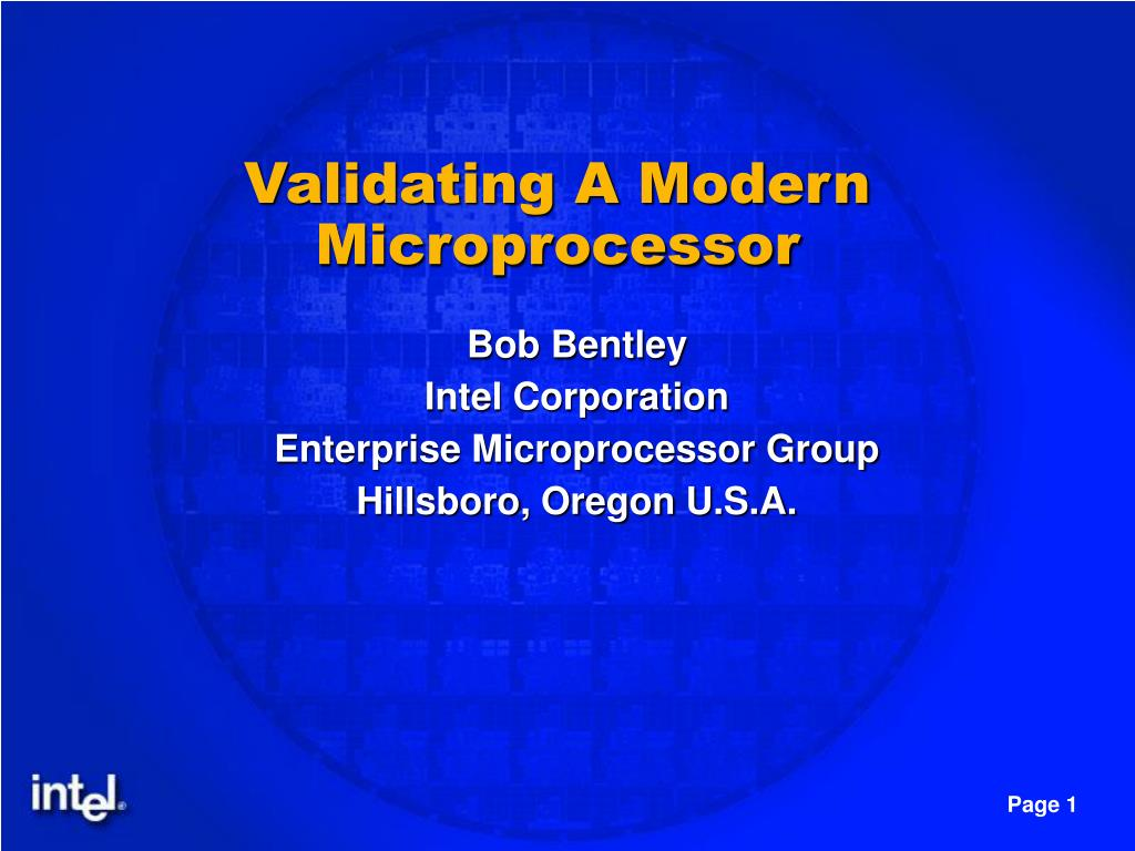 Validating A Modern Microprocessor