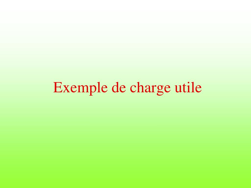 Exemple de charge utile