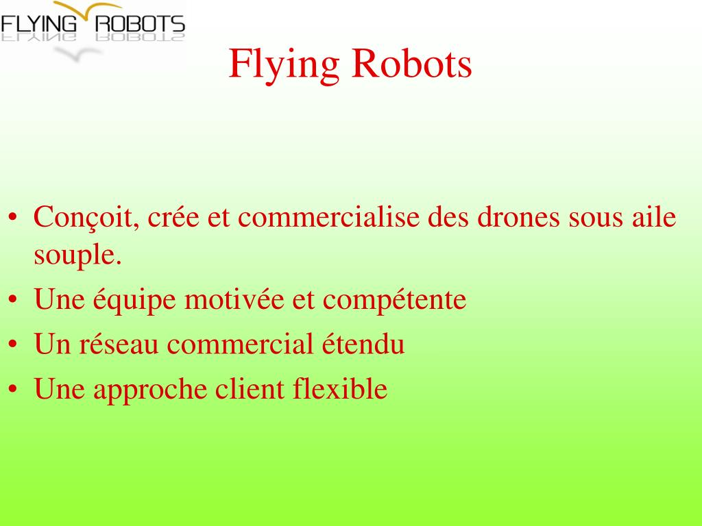 Flying Robots
