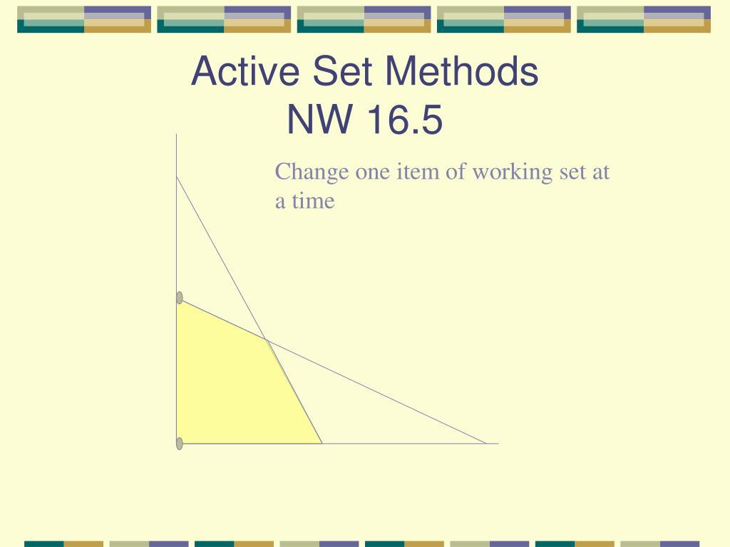 Active Set Methods
