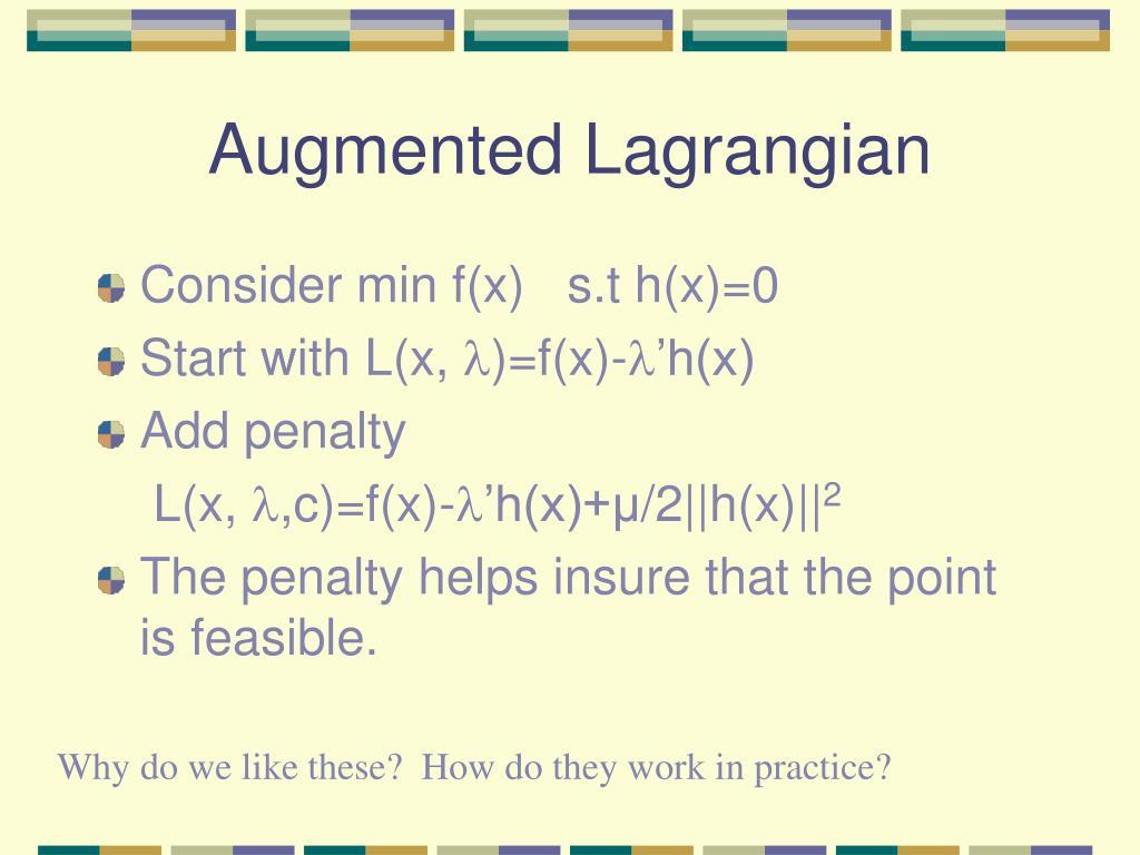 Augmented Lagrangian