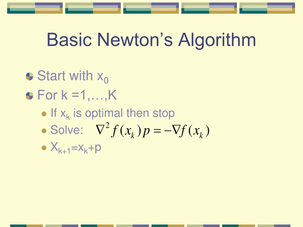 Basic Newton's Algorithm