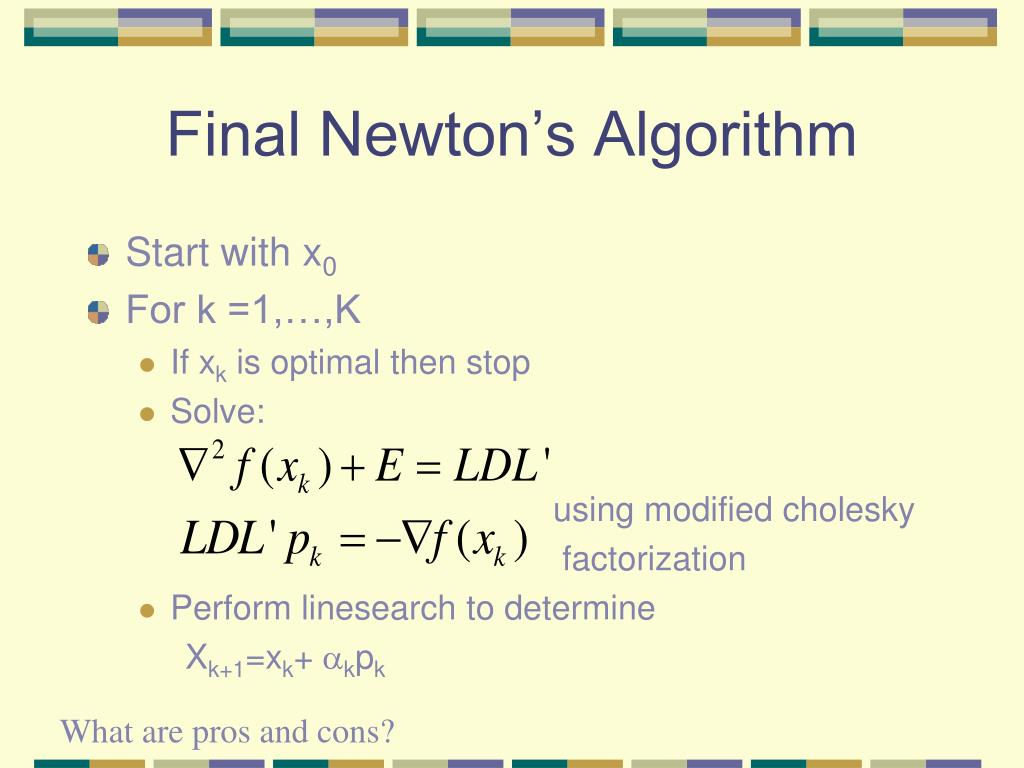 Final Newton's Algorithm
