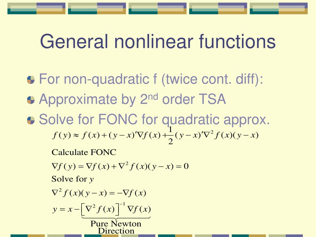 General nonlinear functions