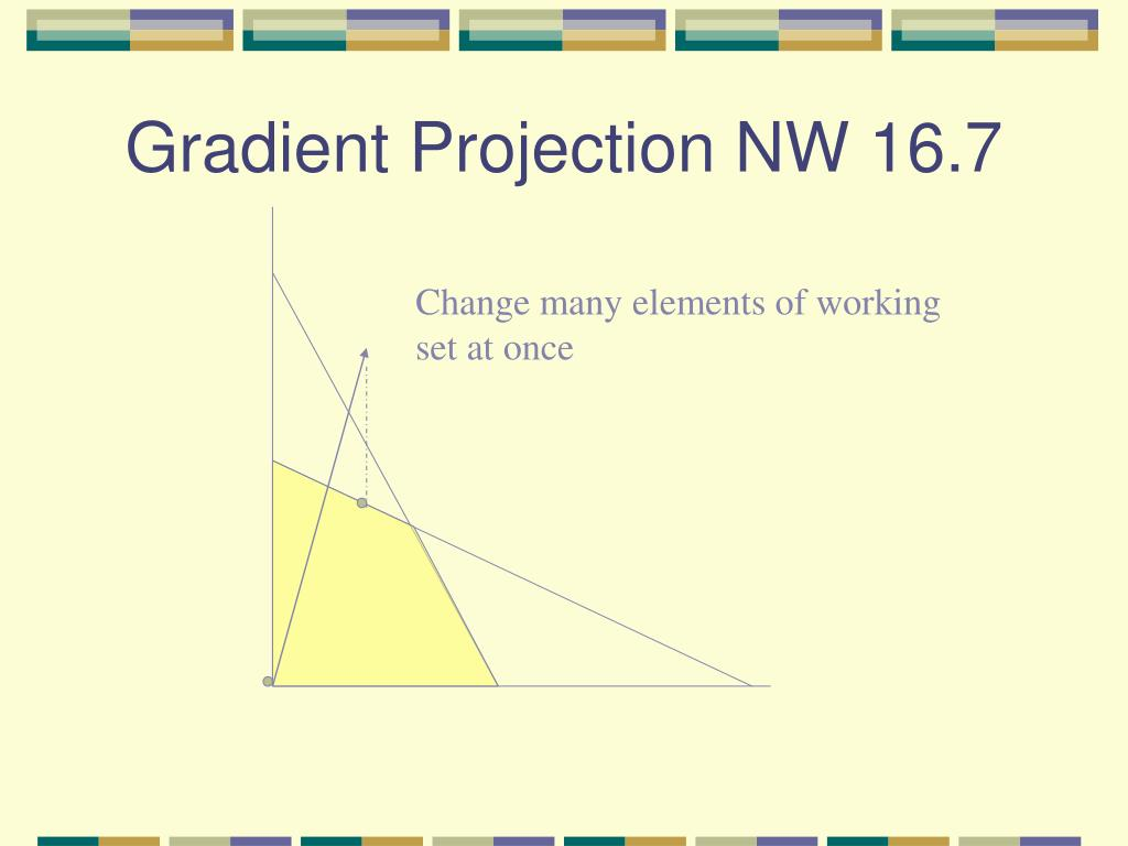 Gradient Projection NW 16.7