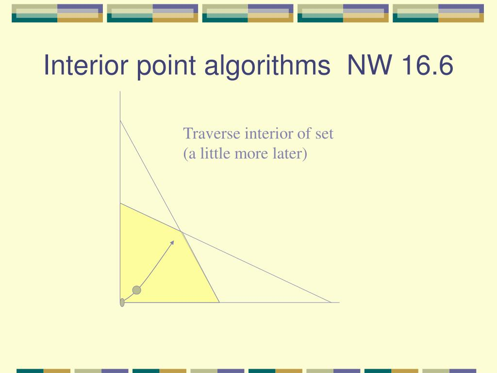 Interior point algorithms  NW 16.6