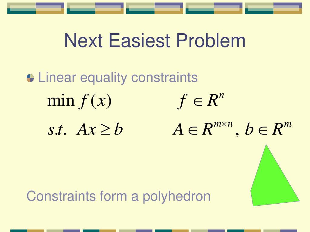 Next Easiest Problem