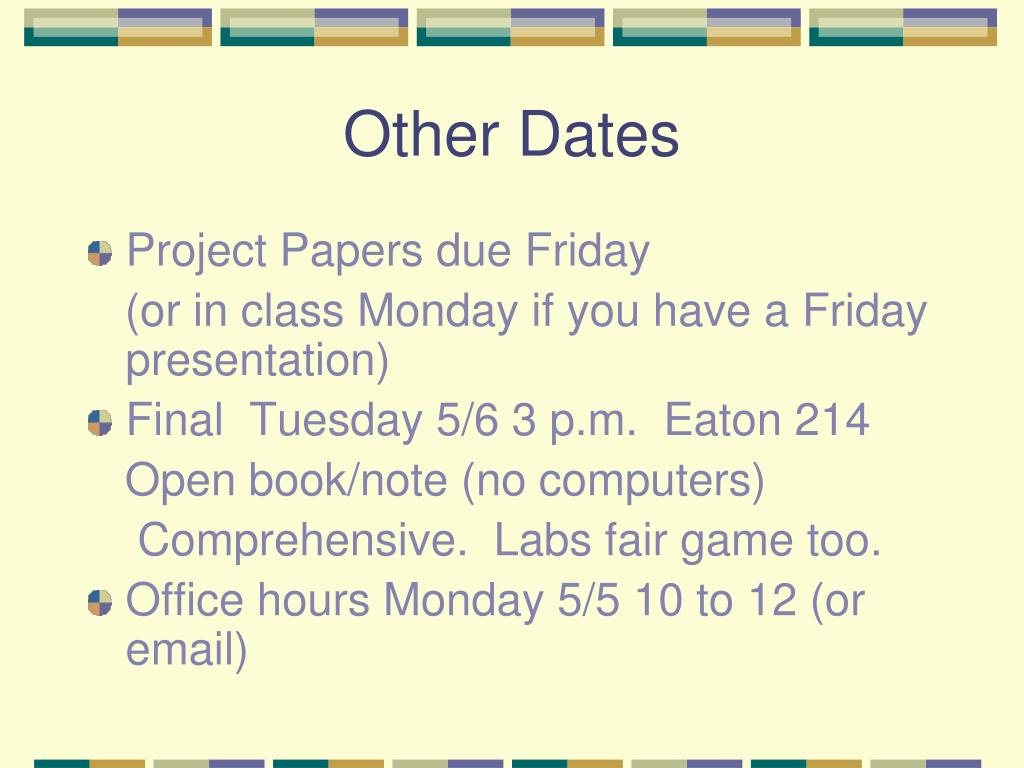 Other Dates