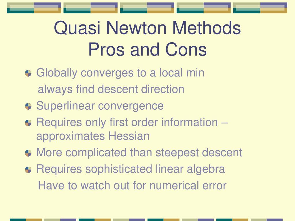 Quasi Newton Methods