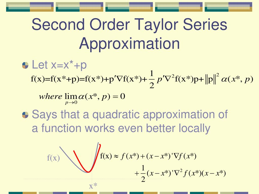 Second Order Taylor Series Approximation